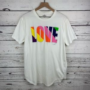 Hollister Peace Love Graphic Short Sleeve Tee